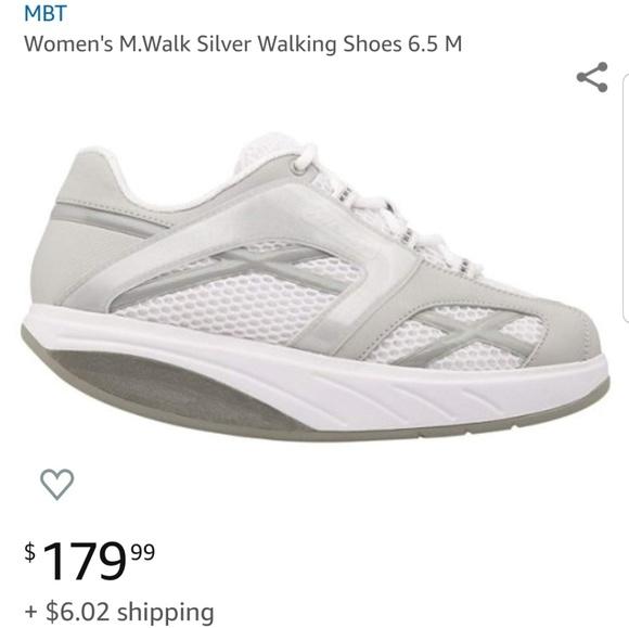 MBT Shoes - MBT M Walker Silver Walking Shoes